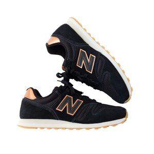 RARE New Balance 373 Sneakers Black + Rose Gold 8